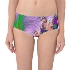 Pattern Background Light  Mid Waist Bikini Bottoms by amphoto