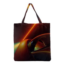 Line Figure Background  Grocery Tote Bag by amphoto