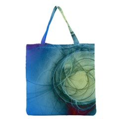 Connection Ball Light  Grocery Tote Bag by amphoto