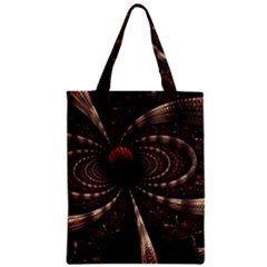 Circles Spheres Lines  Zipper Classic Tote Bag by amphoto