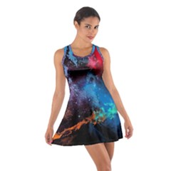 Stains Paint Background  Cotton Racerback Dress by amphoto