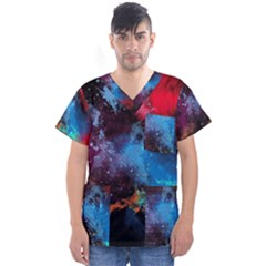 Stains Paint Background  Men s V Neck Scrub Top