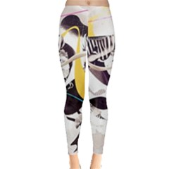 Surrealism Paint Animal  Leggings  by amphoto