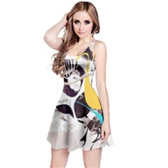 Surrealism Paint Animal  Reversible Sleeveless Dress
