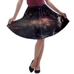 Face Light Profile A Line Skater Skirt by amphoto