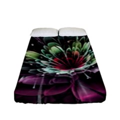 Flower Burst Background  Fitted Sheet (full/ Double Size) by amphoto