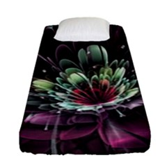 Flower Burst Background  Fitted Sheet (Single Size)