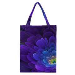 Purple Flower Fractal  Classic Tote Bag by amphoto