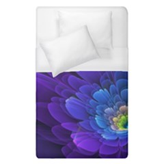 Purple Flower Fractal  Duvet Cover (single Size) by amphoto