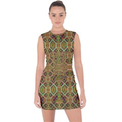 Roulette  Order Lace Up Front Bodycon Dress