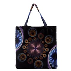 Circles Colorful Patterns  Grocery Tote Bag by amphoto