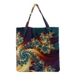 Patterns Paint Ice  Grocery Tote Bag by amphoto