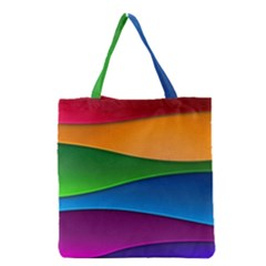 Layers Light Bright  Grocery Tote Bag by amphoto