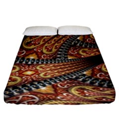 Patterns Background Dark  Fitted Sheet (king Size) by amphoto