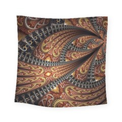 Patterns Background Dark  Square Tapestry (small) by amphoto
