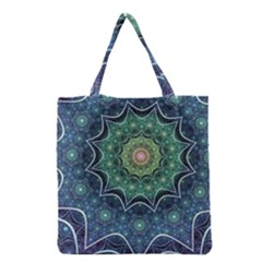 Background Line Light  Grocery Tote Bag by amphoto