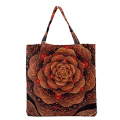 Flower Patterns Petals  Grocery Tote Bag by amphoto