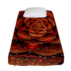Flower Patterns Petals  Fitted Sheet (single Size) by amphoto