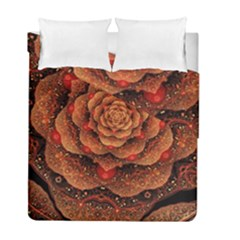 Flower Patterns Petals  Duvet Cover Double Side (full/ Double Size)