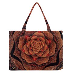 Flower Patterns Petals  Zipper Medium Tote Bag by amphoto