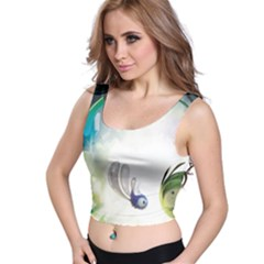 Flower Sprout Background  Crop Top