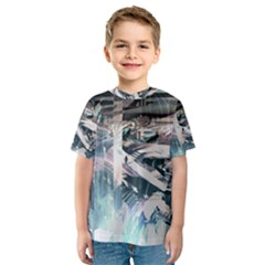 Explosion Background Dark  Kids  Sport Mesh Tee by amphoto