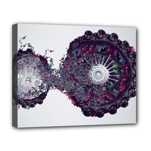 Circles Background Bright  Deluxe Canvas 20  X 16   by amphoto