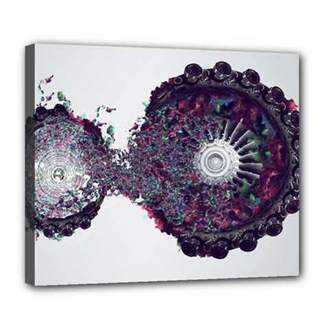 Circles Background Bright  Deluxe Canvas 24  X 20   by amphoto