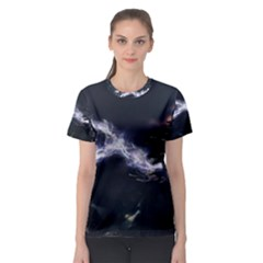 453 Electric Current Metal  Women s Sport Mesh Tee by amphoto