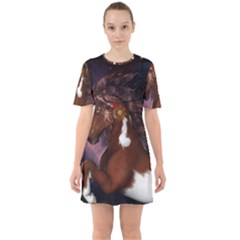 Steampunk Wonderful Wild Horse With Clocks And Gears Mini Dress