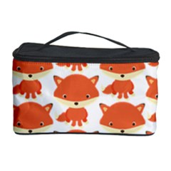 Cute Little Fox Pattern Cosmetic Storage Case by paulaoliveiradesign