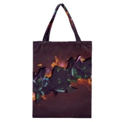 Abstraction Patterns Stripes  Classic Tote Bag by amphoto