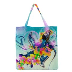 Parrot Abstraction Patterns Grocery Tote Bag by amphoto