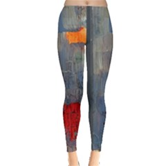 Abstract Paint Stain  Leggings  by amphoto