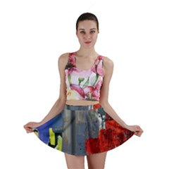 Abstract Paint Stain  Mini Skirt