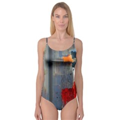 Abstract Paint Stain  Camisole Leotard