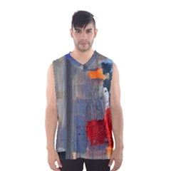 Abstract Paint Stain  Men s Basketball Tank Top