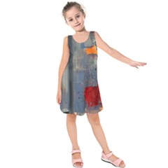 Abstract Paint Stain  Kids  Sleeveless Dress