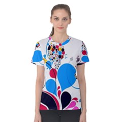 Patterns Colorful Bright  Women s Cotton Tee
