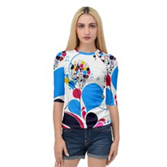 Patterns Colorful Bright  Quarter Sleeve Raglan Tee by amphoto