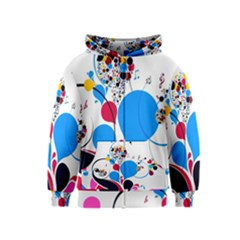 Patterns Colorful Bright  Kids  Zipper Hoodie