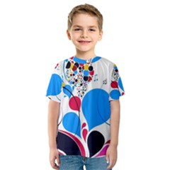 Patterns Colorful Bright  Kids  Sport Mesh Tee