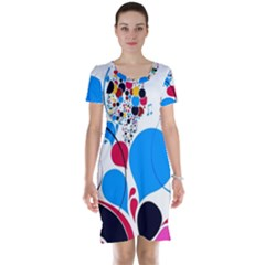 Patterns Colorful Bright  Short Sleeve Nightdress