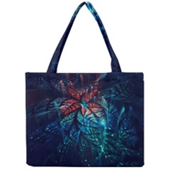 Fractal Flower Shiny  Mini Tote Bag by amphoto