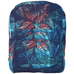 Fractal Flower Shiny  Full Print Backpack by amphoto