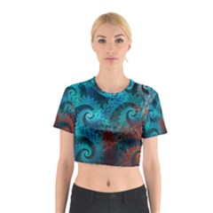 Abstract Patterns Spiral  Cotton Crop Top by amphoto