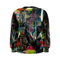 Psychedelic Abstraction Pattern  Women s Sweatshirt by amphoto