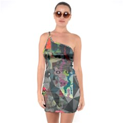 Psychedelic Abstraction Pattern  One Soulder Bodycon Dress by amphoto