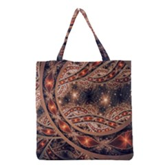 Fractal Patterns Abstract  Grocery Tote Bag by amphoto