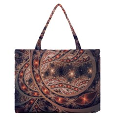 Fractal Patterns Abstract  Zipper Medium Tote Bag by amphoto